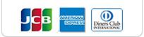 JCB、American Express